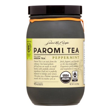 PAROMI TEA - Full Leaf Green Tea - Peppermint Tea, 15 Tea Sachets, 1.6 oz Bottle (3 Pack)