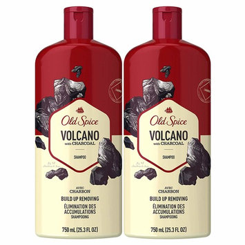 Spice Shampoo for Men, Charcoal Build-Up Removing, Volcano, 25.3 fl oz, Twin Pack