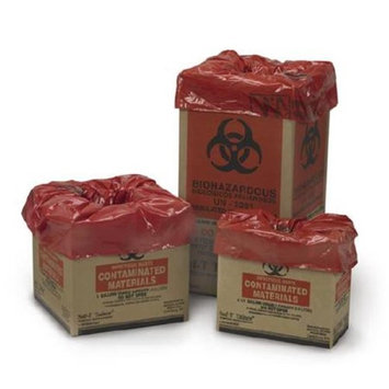 Medegen Medical MAI 10-2002 6 x 10.5 x 12 in. Infectious Waste Bag Red & Black - 30 per Case