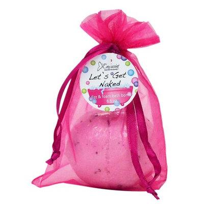 Enfusia Fizz & Foam Bath Bomb, Light Pink, Lets Get Naked, 6.5 Ounce