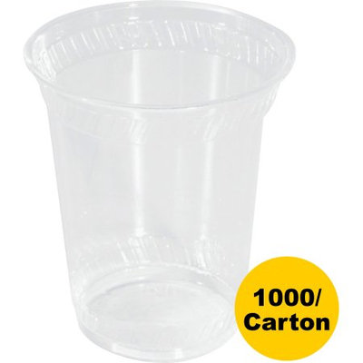 NatureHouse Corn Plastic Cup, 12 oz, Clear, 50 cups/Pack