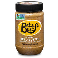 Gourmet Cinnamon Sunflower Seed Butter w/Chia Seeds by Betsy's Best 16 OZ - FREE RECIPE E-BOOK - All Natural and GMO Free [Cinnamon]