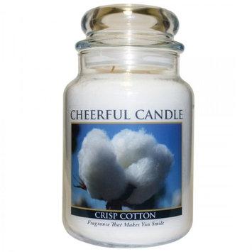 A Cheerful Candle JC109 15Oz. Crisp Cotton Signature Colonial Jar