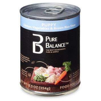 Pure Balance Chicken, Vegetables & Brown Rice Stew Puppy Wet Dog Food, 12.5 Oz