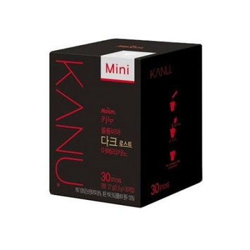 MAXIM Cafe KANU Mini Dark Black Coffee 0.9g*30sticks