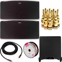 Klipsch R-14S Surround Sound Speaker (2) With Sub-12HG Subwoofer With Bonus Accessories