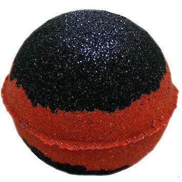 Bath Bomb 5.5 Oz Black Velvet w Kaolin Clay & Coconut Oil