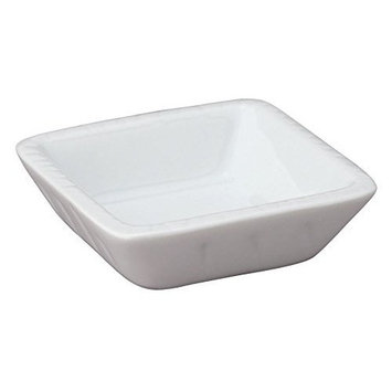 HIC Harold Import Co. Square 3 inch Porcelain Soy Dish T-20-HIC