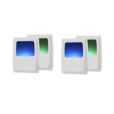 Amertac 71382CC Forever-Glo LED NiteLIte, Multi-Color (4 Pack)