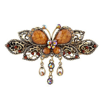 Women Retro Jewelry Crystal Butterfly Style Hair Clips Beauty Tools H6