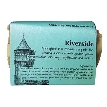 Waterfall Glen Soap Company Riverside - honeysuckle, all natural, vegan bath soap with shea butter 5.8oz