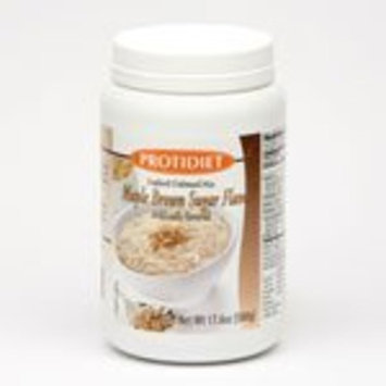 ProtiDIET Instant Oatmeal Mix (7 Pouches), Simply Add Water, No Sugar Meal Replacement, No Trans Fat, 15G Protein, 90 Calories (Maple-Brown Sugar, 17.6OZ)