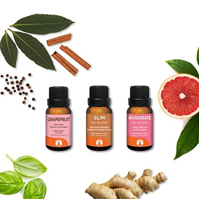 Hungry? - GuruNanda Aromatherapy Essential Oils Set 3pc Kit - Reduce Fatigue - Suppress Cravings - Manage Appetite - Energize - 100% Pure - Undiluted - Therapeutic Grade Essential Oils - 15ml [Hungry?]