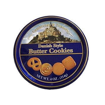 Cambridge & Thames Danish Style Butter Cookies 4 Oz Mini Tin (1 Tin)