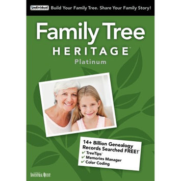 Individual Software Family Tree Heritage Platinum 15 (Email Delivery)