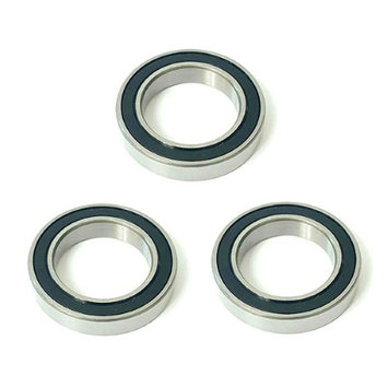 Volar Motorsport 3x 6007 2RS Rubber Sealed Deep Groove Ball Bearings - 35x62x14mm