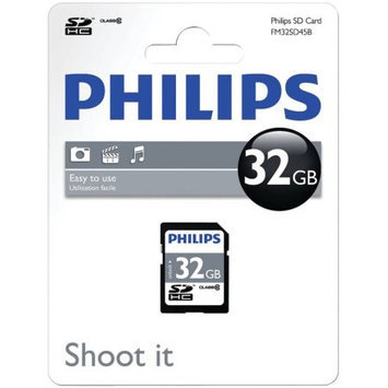 Philips 32GB Secure Digital High Capacity SDHC Card (Class 10), Model FM32SD45B/27