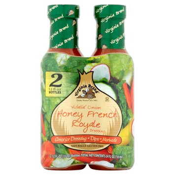 Vita Specialty Foods, Inc. Virginia Brand Vidalia Onion Honey French Royale Dressing, 12 fl oz, 2 pack