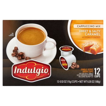 Trilliant Indulgio Sweet & Salty Caramel Cappuccino Single Serve Cups For Keurig K Cup Brewer, 12 Count