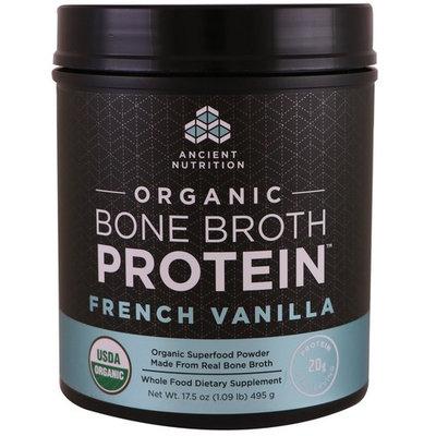 Dr. Axe / Ancient Nutrition, Organic Bone Broth Protein, French Vanilla, 17.5 oz (495 g) [Flavor : French Vanilla]