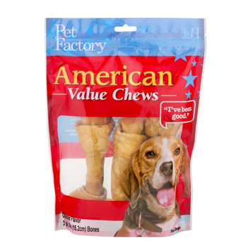 Pet Factory 28173 American Value Chews Chicken Flavored Bones 6-7 3 Pack PF28173