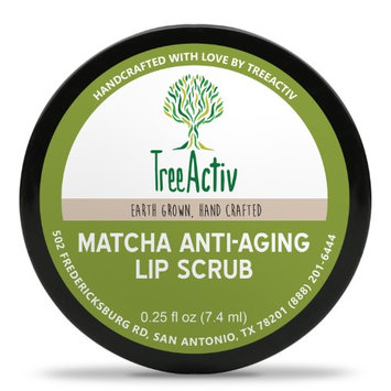 TreeActiv Matcha Anti-Aging Lip Scrub, Coconut & Castor Oil