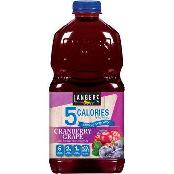 Langers Juice Drink, 5 Cranberry Grape Cocktail, 64 Fl Oz