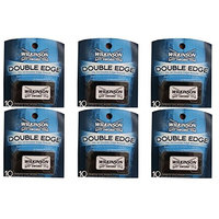 Wilkinson Sword Double Edge Razor Blades, 10 ct. (Pack of 6) + FREE Scunci Effortless Beauty Black Clips, 15 Count