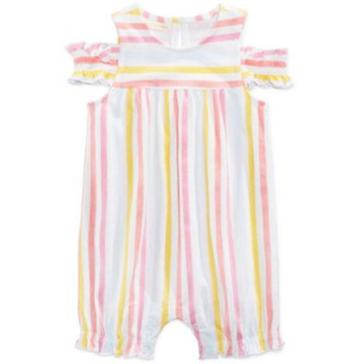Watercolor Striped Romper, Baby Girls, Created for Macy's