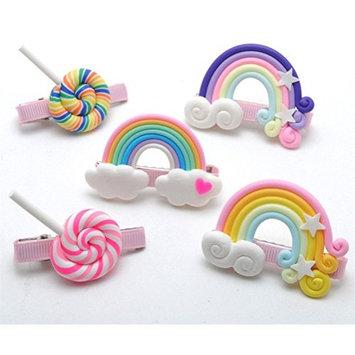 cuhair Cute 5pcs Baby Girl Bow Candy Hair Clip Barrette Accessories