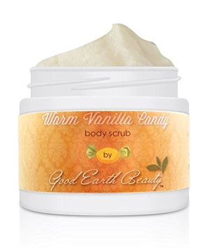 Body Scrub Warm Vanilla Candy - all natural sugar scrub by Good Earth Beauty