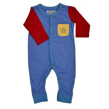 Rockin Baby Llc Coyote & Co. Newborn Baby Boy Colorblock Footless Sleep 'N Play