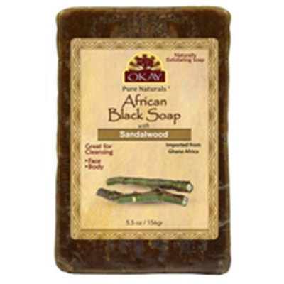 OKAY African Black Soap Sandlewood 156 g - 5.5 oz