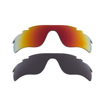 Best SEEK Replacement Lenses for Oakley VENTED RADAR LOCK Grey Red Mirror