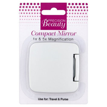 Precision Beauty 1x & 5x Magnification Compact Mirror
