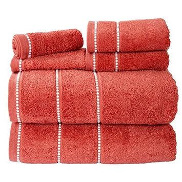 Lavish Home Zero Twist 100% Cotton 6 Piece Towel Set Color: Brick