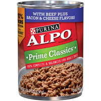 Nestle Purina Purina ALPO Prime Classics With Beef Plus Bacon & Cheese Flavors Dog Food Case of 12- 13.2 oz. Cans
