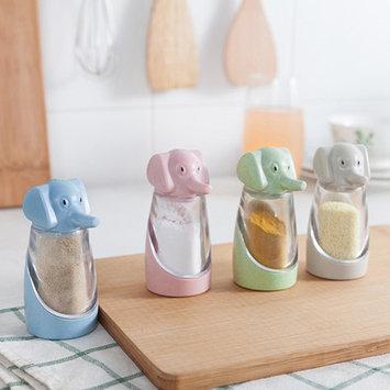 POLYHYMNIA Kitchen Tool Cute Elephant Spice Sugar Pepper Herb Salt Shaker Storage Bottle