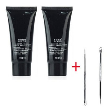 PILATEN blackhead remover,Tearing style Deep Cleansing purifying peel off the Black head,acne treatment,black mud face mask 60g (Pack of 2 boxes)