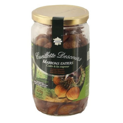 Concept Fruits Whole Roasted Chestnuts in Jar-Large 14.8 oz Cueillette Descours (Pack of 6)