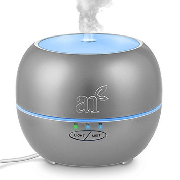 ArtNaturals Aromatherapy Essential Oil Diffuser – (Silver - 150 ml Tank) – Ultrasonic Aroma Humidifier - Mist Mode, Auto Shut-Off and 7 Color LED Lights – For Home, Office, Bedroom and Baby