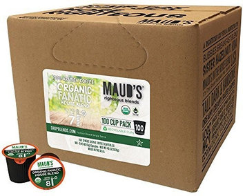 Maud's Coffee Maud's Gourmet Coffee Pods - Organic Fanatic House Blend, 100-Count Single Serve Coffee Pods - Richly Satisfying Premium Arabica Beans, California-Roasted - Kcup Compatible, Including 2.0