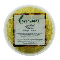 Wincrest Bulkfoods Candied Diced Citron ~ Glazed Fruit ~ 1 Pound Tub