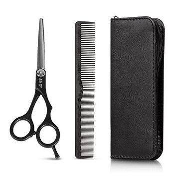 TC JOY Hair Cutting Scissors Set, Professional Barber-Salon Hairdressing Razor-Stainless Steel Shear with Hair Comb 6.5 inch