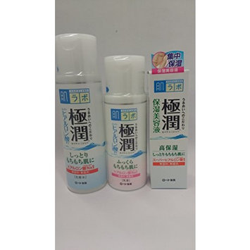 Rohto Hadalabo Gokujyun Serum Value Set- Lotion(5.7fl/170ml)/milk(4.7fl/140ml)/Serum 30g