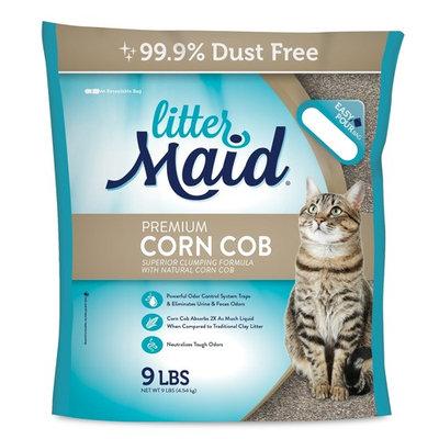Littermaid Corn Cob Natural Clumping Cat Litter, 9-Pounds