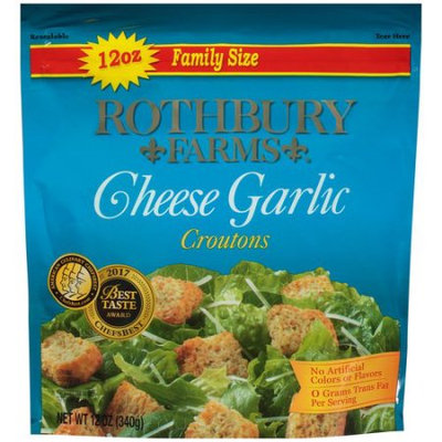 Rothbury Farms Cheese Garlic Croutons (12.0 oz Family Size Package)