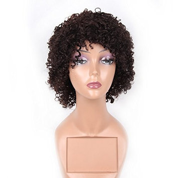 HAIR WAY 100% Pure Human Hair Wigs Short Kinky Curly Wig for Women None Lace Capless Full Machine Made Short Curly Human Hair Wig for Daily Wear #2