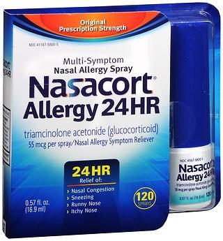 Nasacort Allergy Relief 55 mcg Strength Liquid 0.57 oz.