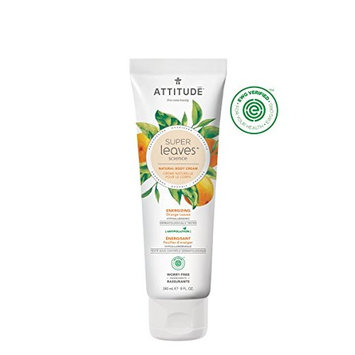 Natural Energizing Body Cream: EWG VERIFIED, Hypoallergenic & Dermatologist Tested Body Moisturizer | Super leaves Collection (8oz)